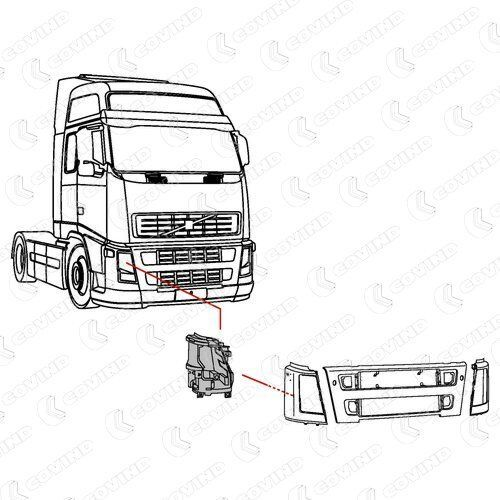 nowe oblicowanie VOLVO 20453628.20453627.20452886.20452887 do ciężarówki VOLVO FH