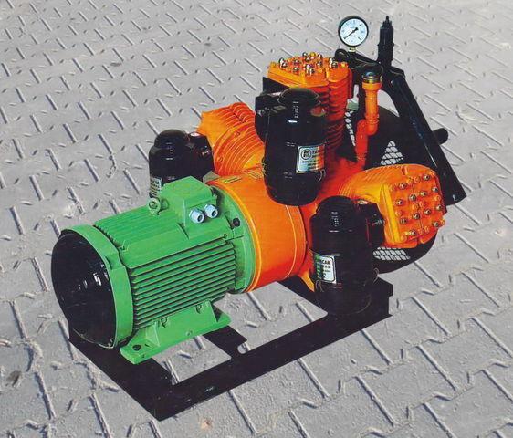 kompresor pneumatyczny do cysterny naczepy V3.16 tłokowy z silnikiem elektrycznym