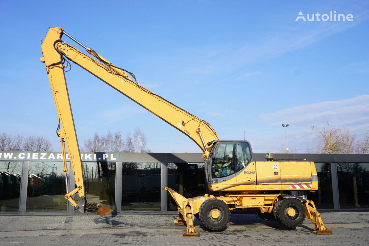 koparka kołowa CASE WX240 , 23t , LONG REACH 16m , 4k MTH , hydraulic bucket , joyst