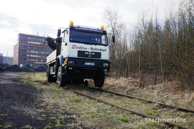 żuraw samojezdny MAN 18.280 4x4 HIAB 166 Road RAIL Two way Schiene
