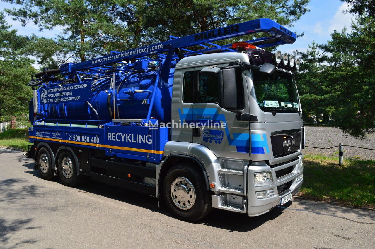 pojazd do czyszczenia kanalizacji MAN MULLER CANALMASTER F120 E WA1 RECYKLING
