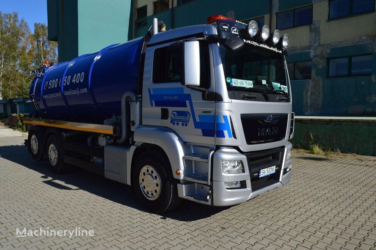 samochód asenizacyjny MAN TGS 26.480 6x2 EURO 6 18m3 lenkachse neu aufbau