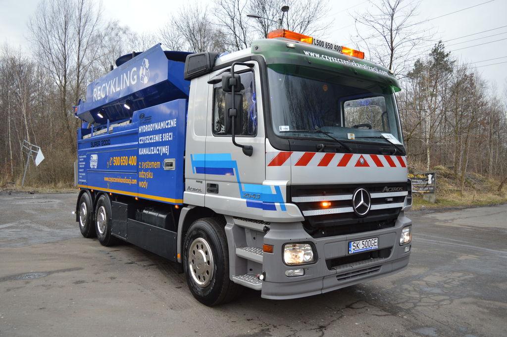 samochod do czyszczenia kanalizacji MERCEDES-BENZ ACTROS 2543L WIEDEMANN SUPER 2000
