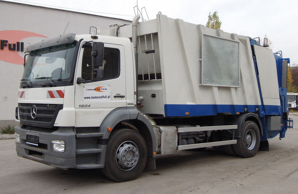 śmieciarka MERCEDES-BENZ 18-24 Axor FAUN GARBAGE TRUCK POWERPRESS 518 18m3