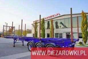 naczepa do przewozu drewna DENNISON for wood , stretched , max 12,8m , 10x stachions , air suspensio