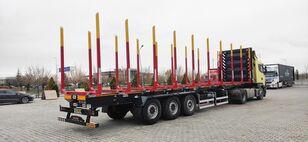 nowa naczepa do przewozu drewna NOVA NEW TIMBER SEMI TRAILER PRODUCTION with SAF AXLE and BUNKS