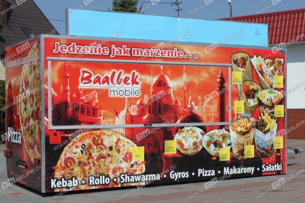 nowa przyczepa handlowa BMgrupa Przyczepa Gastronomiczna z maskownicami, Imbiss, kebab, fryki ,