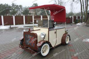 nowa przyczepa handlowa BMgrupa stand w stylu retro, stoisko gastronomiczne, catering trailers