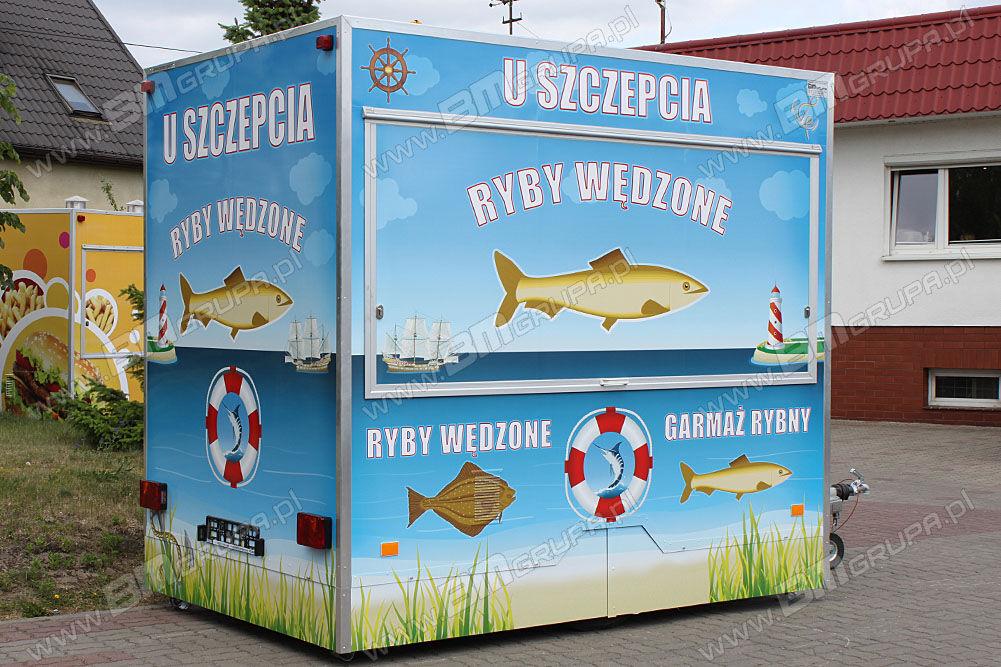 nowa przyczepa handlowa NIEWIADOW vending trailers, przyczepa gastronomiczna do sprzedaży ryb,