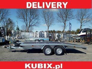 nowa przyczepa niskopodwoziowa KUBIX BORO twin-axle car hauler, dovetail, 450×200, plywood inside, GV